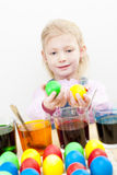 Easter eggs' coloration Stock Photography