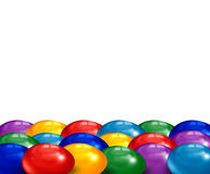 Easter eggs. Colored easter eggs side by side Royalty Free Stock Photo