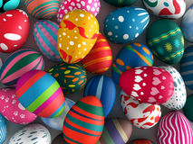 Easter eggs. Colorful background 3d illustration Stock Image