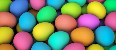 Easter Eggs Colorful Banner Background royalty free illustration
