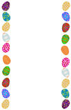 Easter eggs. Colorful Easter eggs border illustration Stock Photos
