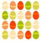 Easter eggs colorful decorative pattern illustration Stock Images
