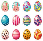 Easter eggs with colorful designs Royalty Free Stock Photos