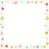 Easter eggs colorful frame polka dot Royalty Free Stock Photos