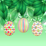Easter eggs with colorful patterns Royalty Free Stock Image