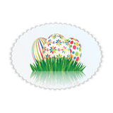 Easter eggs with colorful patterns Stock Photography