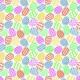 Easter eggs colorful seamless pattern. Vector illustration. You can use this ornament for printing on textile or gift wrap and wallpapers Stock Images