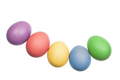 Easter eggs. Colorful  easter eggs on the white background Royalty Free Stock Photo