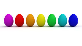 Easter eggs. Colorful easter eggs on  white background Stock Image