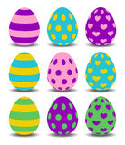 Easter eggs colorfull set Stock Images