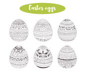 Easter eggs. Coloring book Royalty Free Stock Images