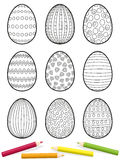 Easter Eggs Coloring Picture Stock Photo