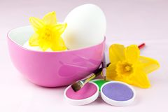 Easter eggs and colors Royalty Free Stock Photos