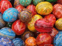 Easter eggs colors Stock Photo