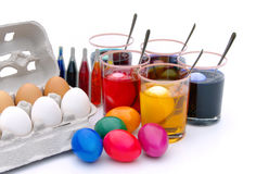 Easter eggs colour Stock Images