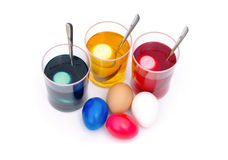 Easter eggs colour Royalty Free Stock Photo