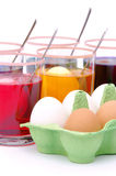 Easter eggs colour Stock Image