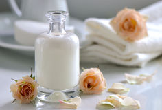 Body or face lotion Stock Photos