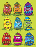 Easter eggs composition Stock Photo