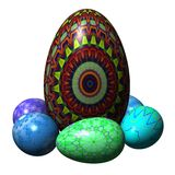 Easter eggs composition Royalty Free Stock Photo