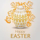 Easter eggs composition. Easter banner background template with beautiful egg. Vector illustration Royalty Free Stock Photos