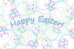 Easter eggs composition. Vector illustration Royalty Free Stock Photos