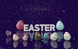 Easter Eggs Concept 3D 2015. Amaizing Easter Egg Concept and Design Stock Photo