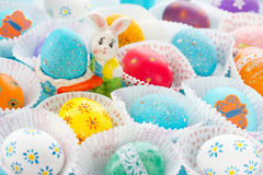 Easter eggs. Conceptual Easter background Royalty Free Stock Images