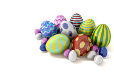 Easter Eggs Congregation Stock Image