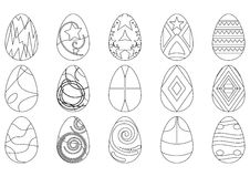 Easter eggs, contours Royalty Free Stock Photography