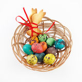 Easter eggs and cookies Royalty Free Stock Photo
