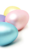 Easter eggs  with copy space Royalty Free Stock Photo