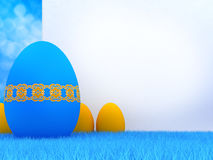 Easter eggs and copy space Royalty Free Stock Photo