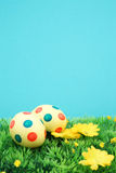 Easter eggs with copy space Royalty Free Stock Image