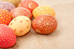 Easter eggs, copyspace Stock Images