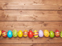 Easter eggs copyspace composition Stock Image