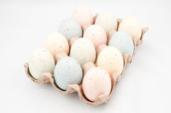 Easter eggs in crate Stock Image