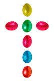 Easter eggs cross Royalty Free Stock Image