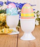 Easter Eggs in Cup Stock Photo