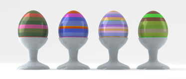 Easter eggs cups Royalty Free Stock Photography