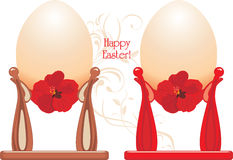 Easter eggs in a cups Royalty Free Stock Photos