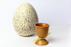 Easter eggs in cups Royalty Free Stock Photo