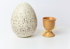 Easter eggs in cups Royalty Free Stock Image