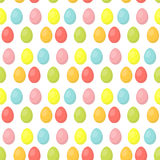 Easter eggs cute seamless pattern, endless backdrop. Colorful background, texture, digital paper. Vector illustration. Stock Photo