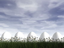Easter eggs - 3D render Royalty Free Stock Photography