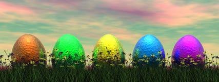 Easter eggs - 3D render Stock Photo