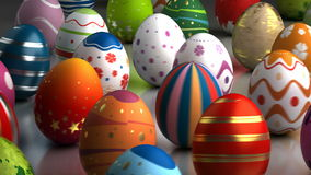 Easter Eggs Dancing stock footage