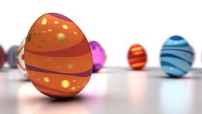 Easter Eggs Dancing stock footage
