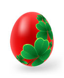 Easter eggs with decor elements Royalty Free Stock Images