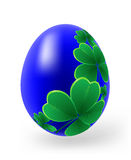 Easter eggs with decor elements Stock Photo